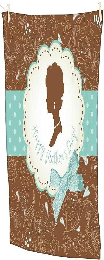Snoogg Día De La Madre Tarjeta – Vintage marcos con señoras siluetas toalla de playa Super