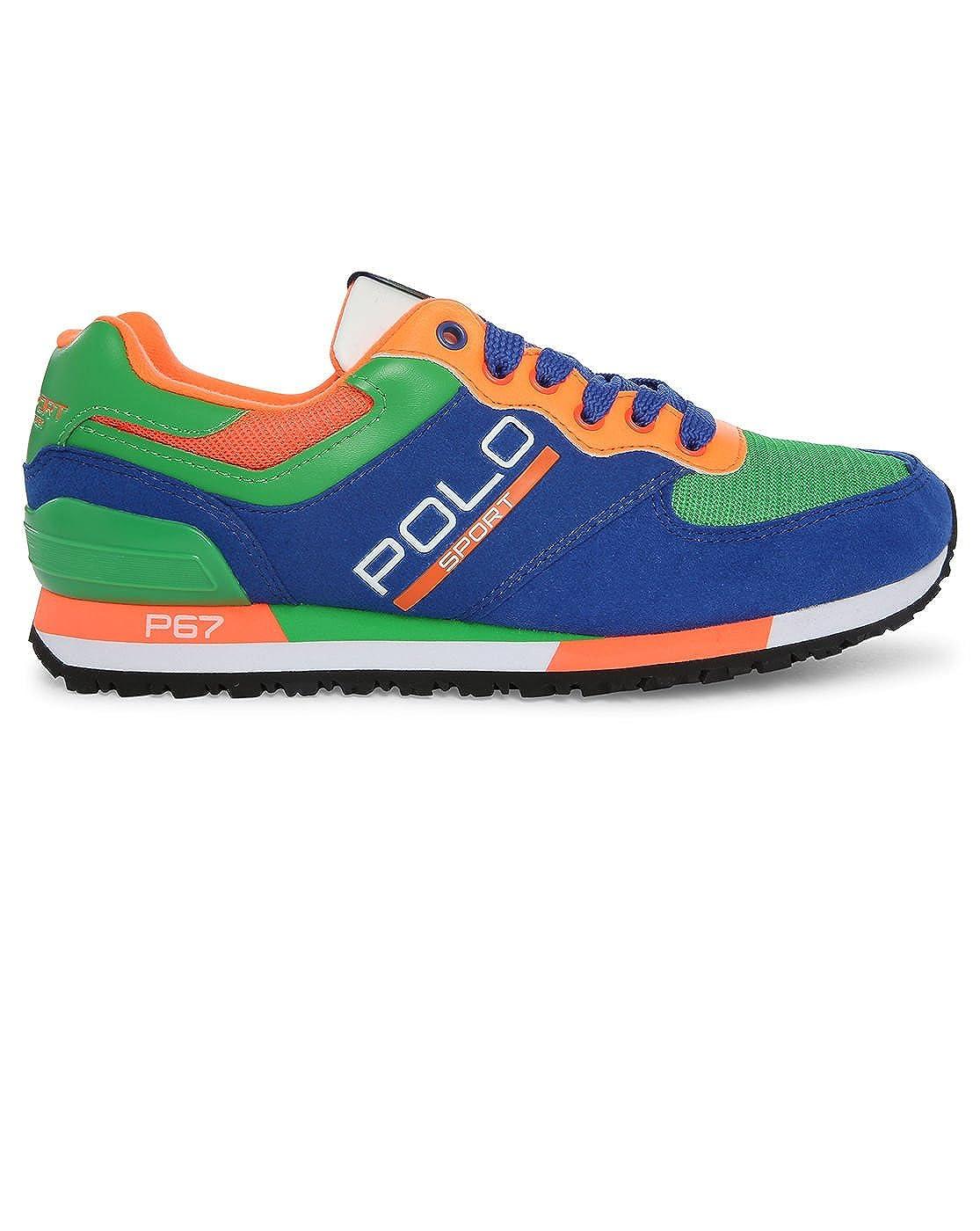 Polo Ralph Lauren - Zapatillas de Deporte de Ante Hombre, Azul ...