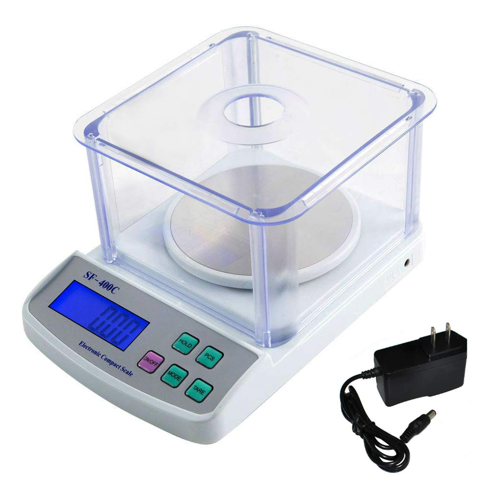 500g/0.01g Precision Balance Digital Electronic Scale Lab Laboratory School Scale Portable with Windshield and AC/DC Adapter | SF-400C