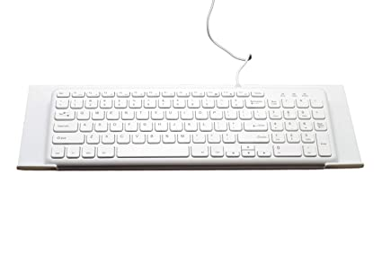 Richboom Acrylic Premium Tilted Computer Keyboard Holder for Easy Ergonomic Typing, Keyboard Stand for Office