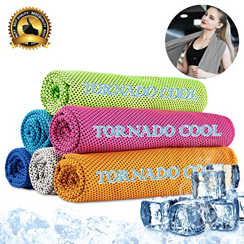 """Cooling towel cooling scarf cooling headband cooling bandana instant cooling towel for travel camping gym yoga tennis running golf biking hiking sports workout fitness Pilate 12""""x33"""""""