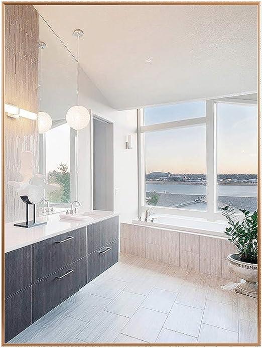 Amazon Com Large Wall Mirror Rectangle Bathroom Bedroom Living Room Vanity Hallway Mirror Wall Mount 15 7 X23 6 23 6 X31 5 Home Kitchen