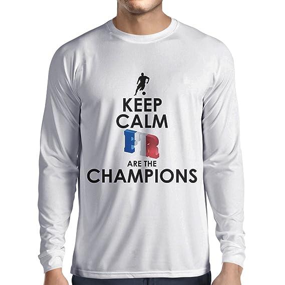 Camiseta de Manga Larga para Hombre Los franceses Son los campeones: Campeonato de Rusia 2018, Equipo de Fútbol de la Copa del Mundo, Camiseta de la Afición ...