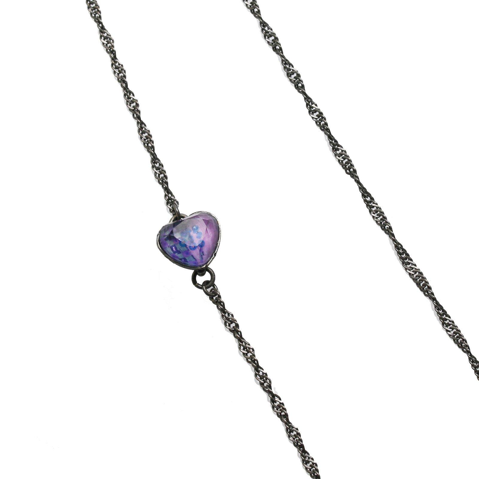 Tamarusan Glasses Chain Heart Handmade Purple For Women For Men Original Resin by TAMARUSAN