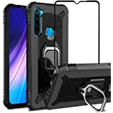 VICEANICS for Xiaomi Redmi Note 8 case with Tempered Glass Screen Protector, Soft TPU Armor Case Cover Reforced Cornors…