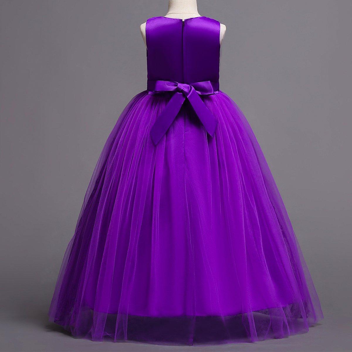 OBEEII Flower Girl Kid Lace Tutu Dress Princess Pageant Wedding Bridesmaid Communion