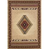 United Weavers of America Tucson Manhattan Rug Collection, 5' 3' by 7' 6', Cream promo code 2017