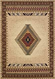 "United Weavers of America Tucson Manhattan Rug Collection, 5' 3"" by 7' 6"", Cream"