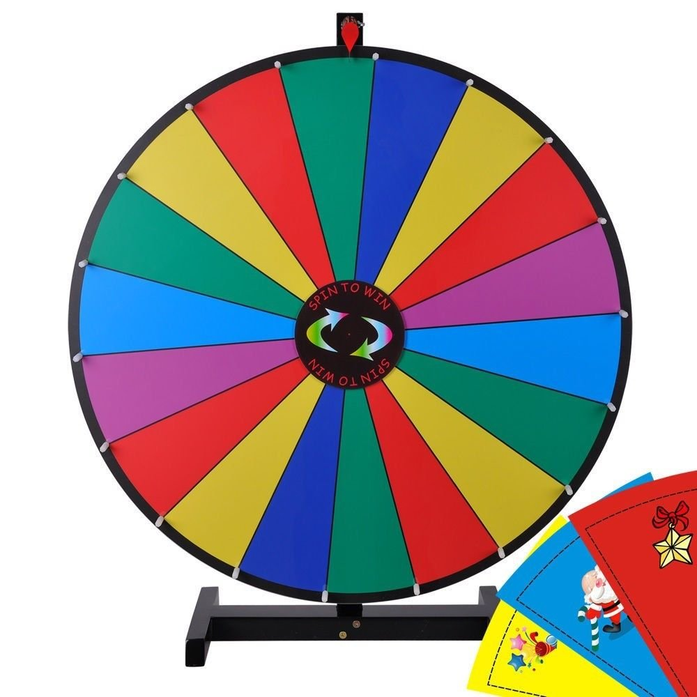 NEW Trade Show Tabletop 30'' Prize Wheel for Spin Game w Editable Template
