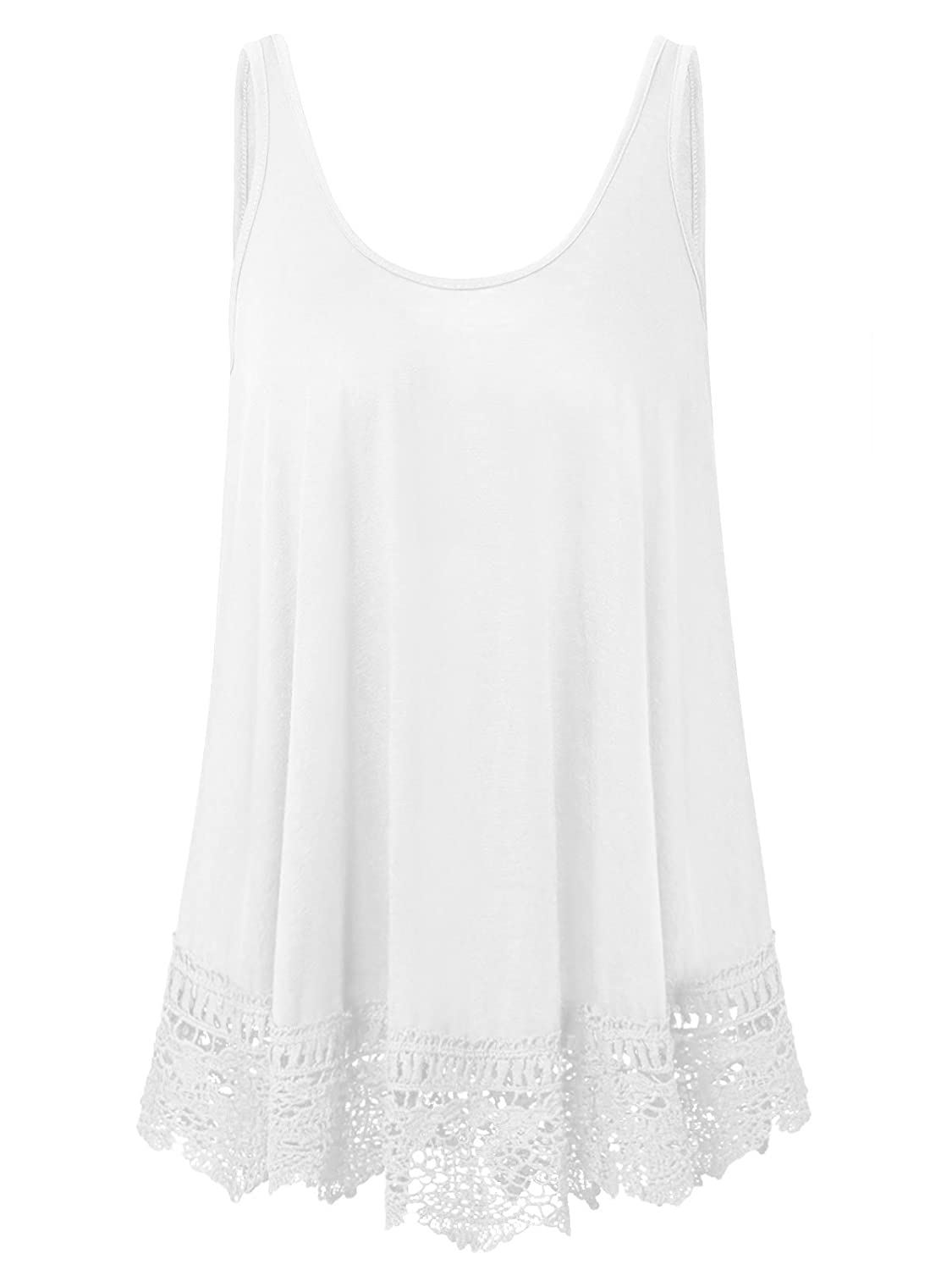 b82ad38af2f5c XiaoMaAnJi Plus Size Swing Lace Flowy Tank Top for Women XMAJ-LS ...