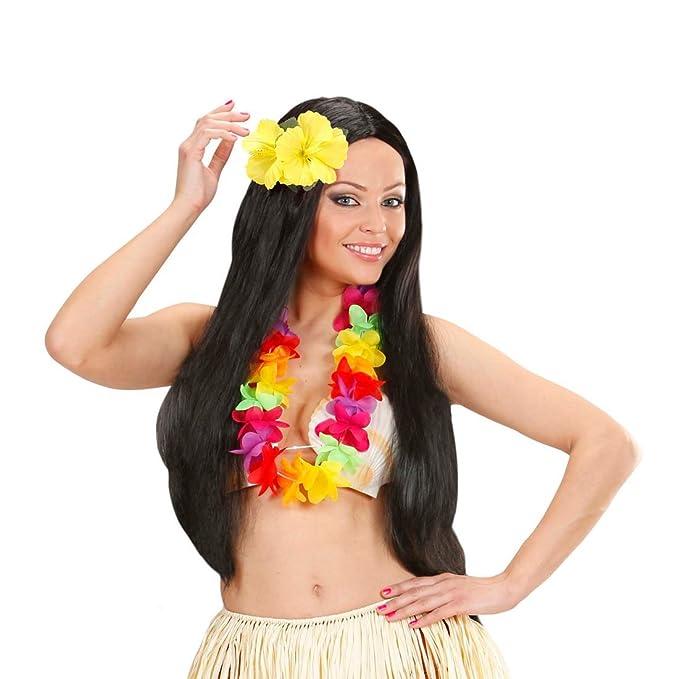 Hawaii Haarblüte Hibiskus Haarspange blau Blumenspange Haarblume Ansteckblume