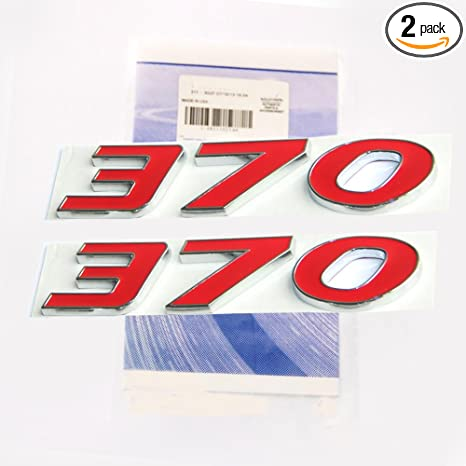 2x OEM 300C HEMI Trunk Emblem Badge decal 3D logo black Red L for Dodge Chrysler