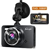 """[2018 Newest] Dash Cam 1080P DVR Dashboard Camera Full HD 3"""" LCD Screen 170°Wide Angle, WDR, G-Sensor, Loop Recording Motion Detection Excellent Video Images(Black)"""