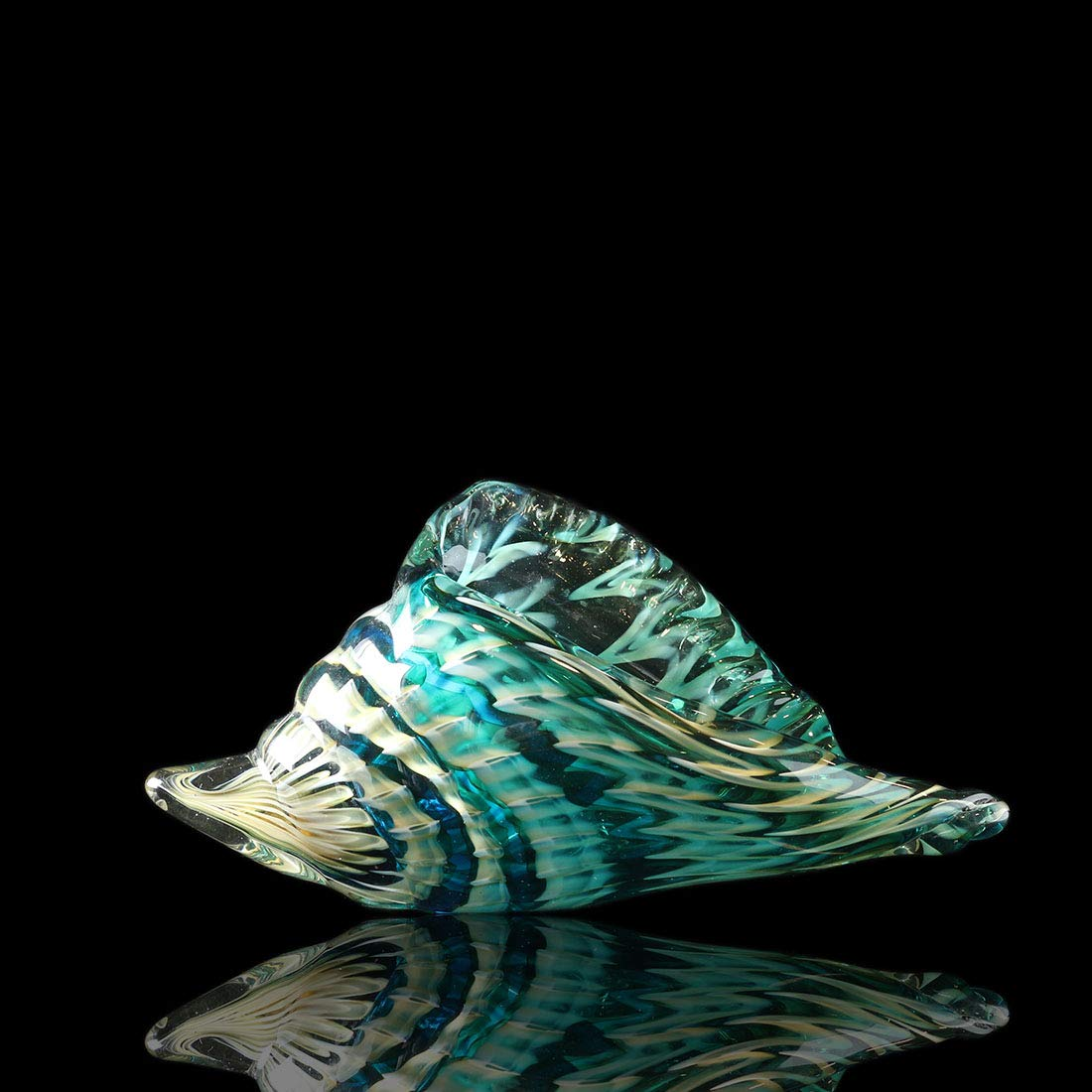 Qf Hand Blown Seashell, Beautiful Home Decor, Handmade Glass Art, Glass Conch by Qf