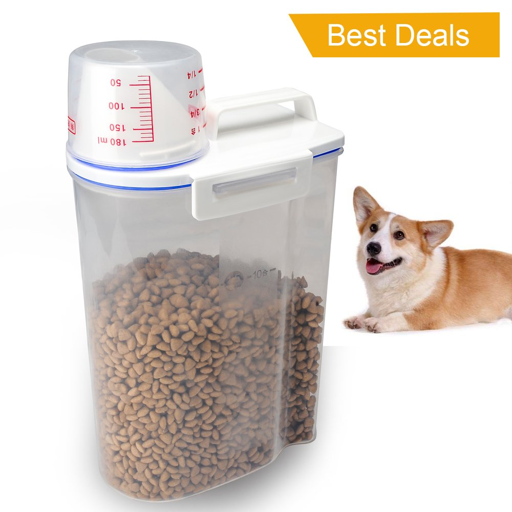 Pet Food Plastic Storage Container Dispenser Lid Lock Airtight Bin