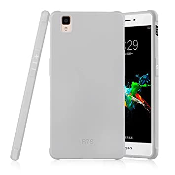 cheap for discount 2a2f6 6653d OPPO R7S Case - Litastore ShockProof Resistant Protector Soft Silicone  Shell Business Series Back Case for OPPO R7S Cover - Gray