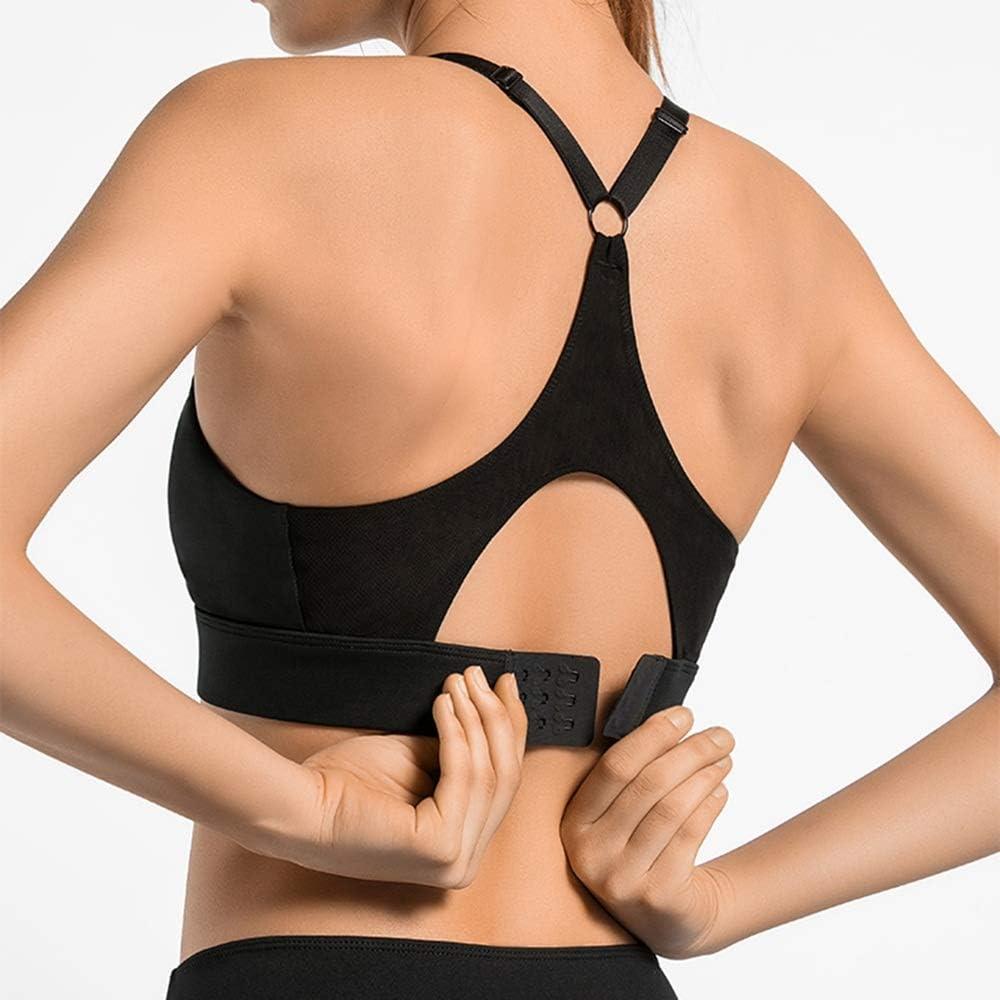 XHRHao Soutien-Gorge De Yoga Conception De Boucle Bandoulière Réglable Soutiens-Gorge De Sport for Femme Rose