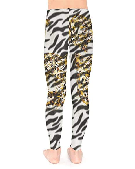 ecf04ee73 Amazon.com: PattyCandy Toddler Girls Stretchy Tights Lion Jungle Animals  Dogs Pug Space Pets Long Unisex Leggings for 2-13yrs: Clothing