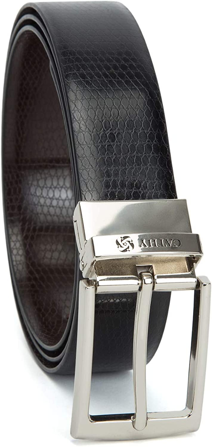 Black,Brown Cathy London Cut-to-Size Reversible PU Leather Belt