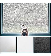 Coavas Privacy Window Film No Glue Static Film Heat Control Anti UV Crystal Pattern Film Glass Fi...
