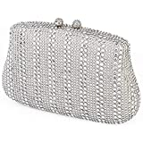 Rhinestone Clutch Purse Evening Bags For Women - Crystal Party Bridal Clutch Wedding Purses Cocktail Handbag in Silver