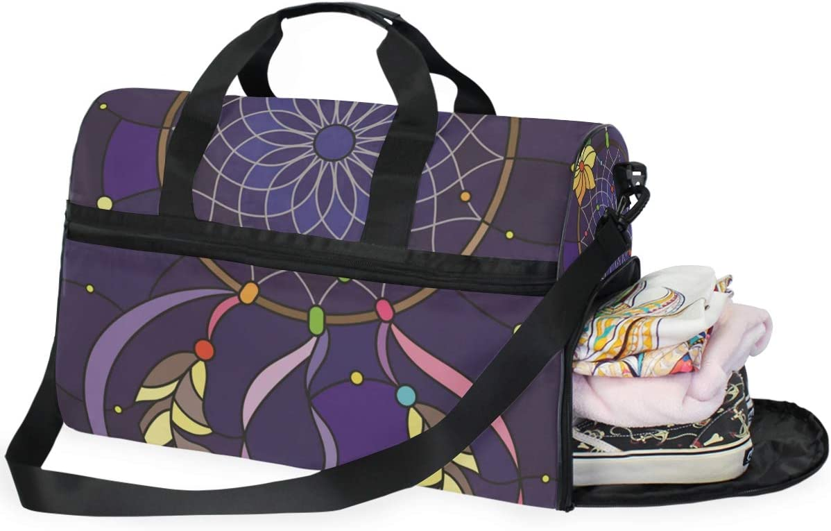 AHOMY Travel Duffel Bag Dream Catcher Insect Sports Gym Luggage Bags