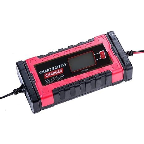 Amazon.com: qijin - Cargador de batería para automóvil y ...