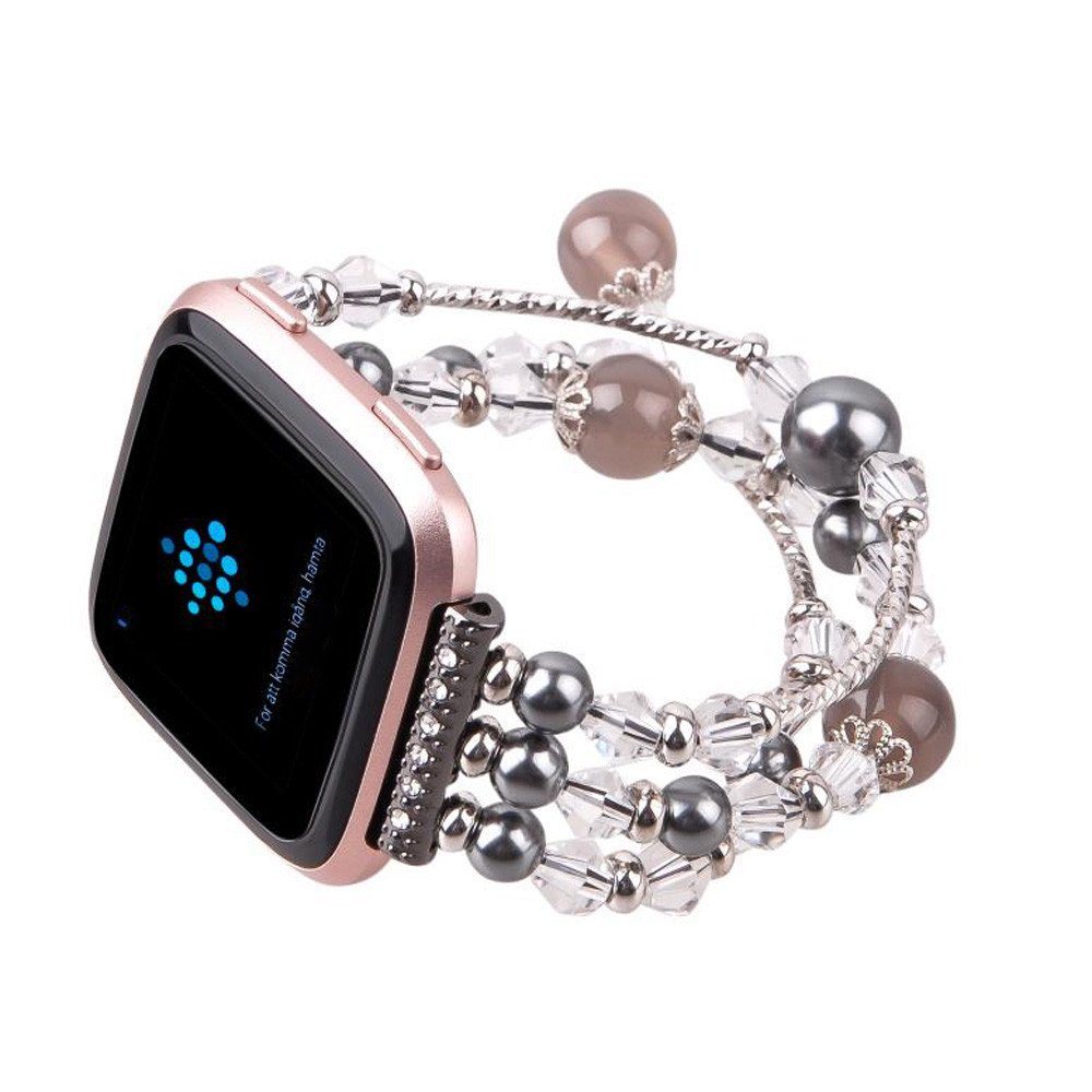 Sunbona Bracelet Band for Fitbit Versa, Stainless Steel Fashion