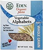 vegetable alphabet pasta - Eden Organic Vegetable Alphabets Packages - 16 oz