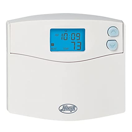 hunter 44155 programmable digital thermostat with indiglo rh amazon com Hunter Thermostat 44155C Wiring Hunter Programmable Thermostat Manual 44155C