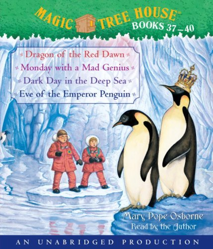 Magic Tree House Collection: Books 37-40: Dragon of the Red Dawn; Monday with a Mad Genius; Dark Day in the Deep Sea; Eve of the Emperor Penguin (Magic Tree House (R) Merlin Mission) by Simon & Schuster Children's Publishing