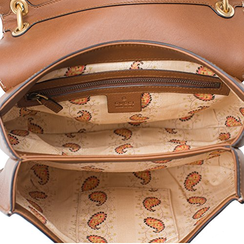 8905be67720e GUCCI GG MARMONT LEATHER SHOULDER BAG Brown Tiger Authentic New ...