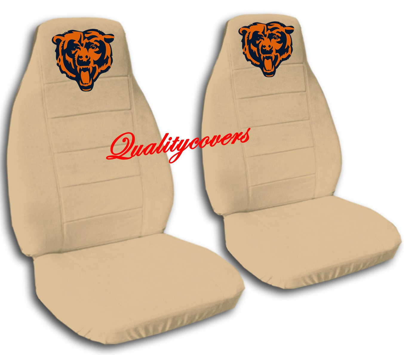 2 Tan Chicago seat covers for a 2007 to 2012 Ford Fusion. Side airbag friendly.