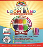 Loom Rubber Bands Kit: 2,400pcs Silicone Loom Band Refill - 1 Year Satisfaction Guarantee! 6 Rainbow Colors Of 400 Each, 4 Bonus Replacement Hooks, 100 Clips – Makes Extra Fun, Crazy, Bright, Durable Bracelets From The Best Latex-Free Silicon Lucky Loom Bandz. 100% Compatible With Other Brands - Comes With 1-Year Risk Free Guarantee!