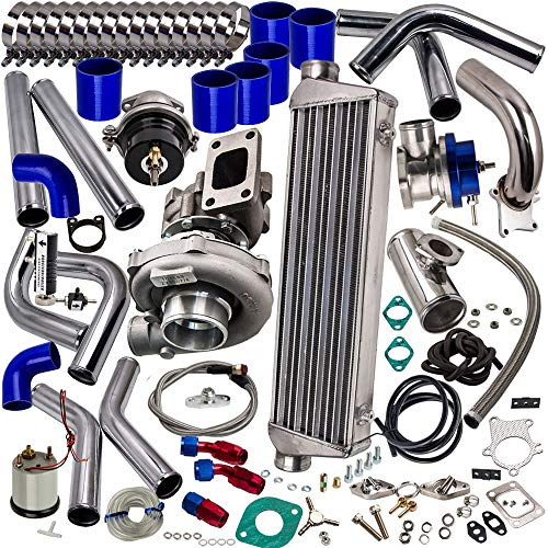 (T3/T4 T3 T4 T04E Universal Turbo charger Kit+Wastegate+Intercooler+Piping)
