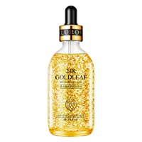 SUNSENT 24k Pure Gold Foil Essence Serum for Face,Hyaluronic Moisturizing &Anti-Aging Face Skin Care Essence Serum Treatment for Women