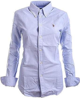 Polo Ralph Lauren Women's Custom Fit Oxford Button Down Shirt (L ...