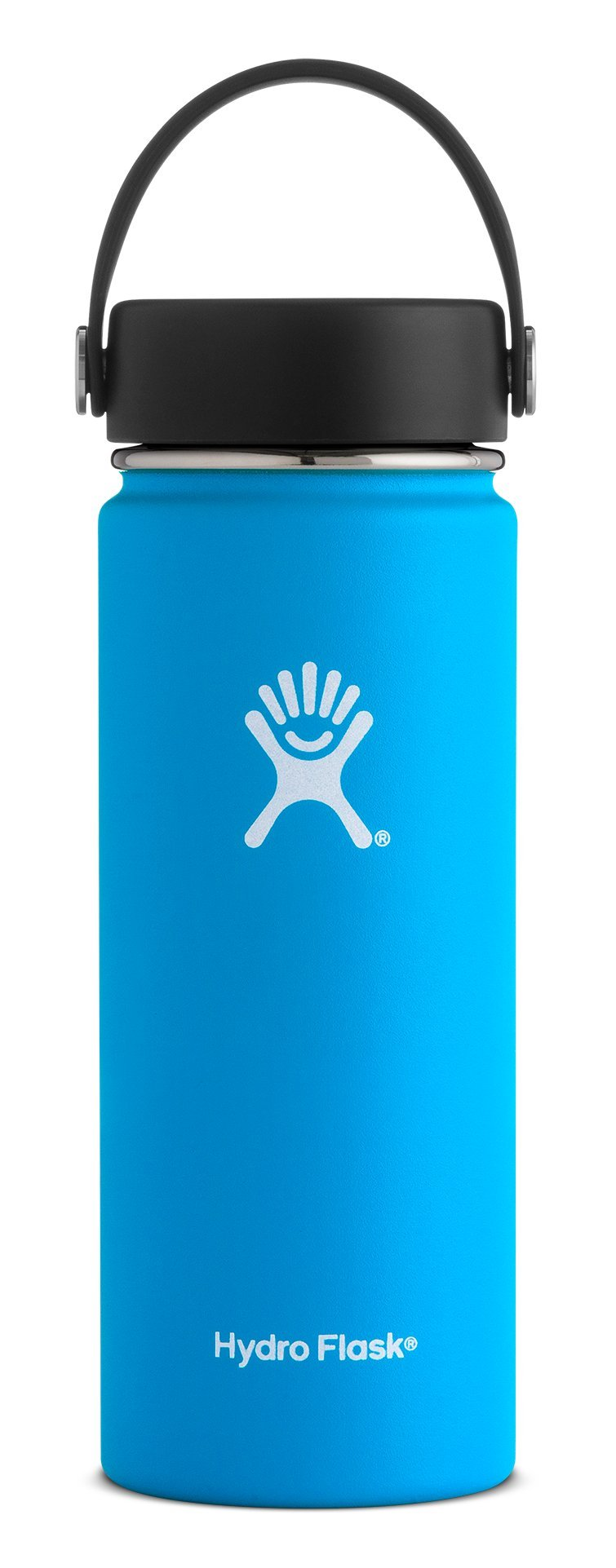 Hydro Flask 18 oz Double Wall Vacuum Insulated Stainless Steel Leak Proof Sports Water Bottle, Wide Mouth with BPA Free Flex Cap, Pacific by Hydro Flask (Image #1)