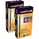 uni-ball 60025 Deluxe Roller Ball Stick Waterproof Pen Black Ink Micro Dozen San60025 for sale online