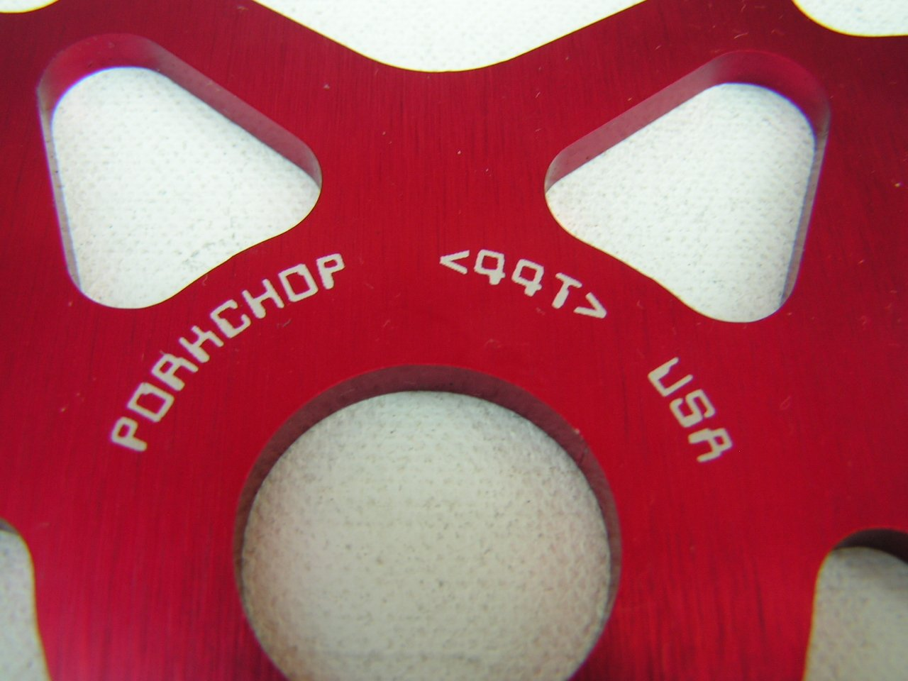 RED *MADE IN USA* Porkchop BMX Chop Saw Bicycle SNOWFLAKE Chainwheel 44T