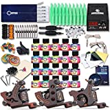 Dragonhawk Complete Tattoo Kit 3 Pro Machines Gun Immortal Inks Power Supply Tattoo Needles Tips Grips 3-2YMX