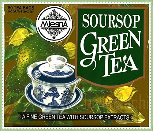 - Mlesna Pure Ceylon Soursop Green Tea 50 Tea Bags Box. ((100g))