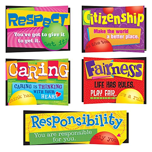 Trend Enterprises Character Education Bulletin Board Set, 26 Inches, Set of 6