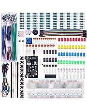 Elegoo Upgraded Electronics Fun Kit w/Power Supply Module, Jumper Wire, Precision Potentiometer, 830 tie-Points Breadboard for Arduino, Raspberry Pi, STM32