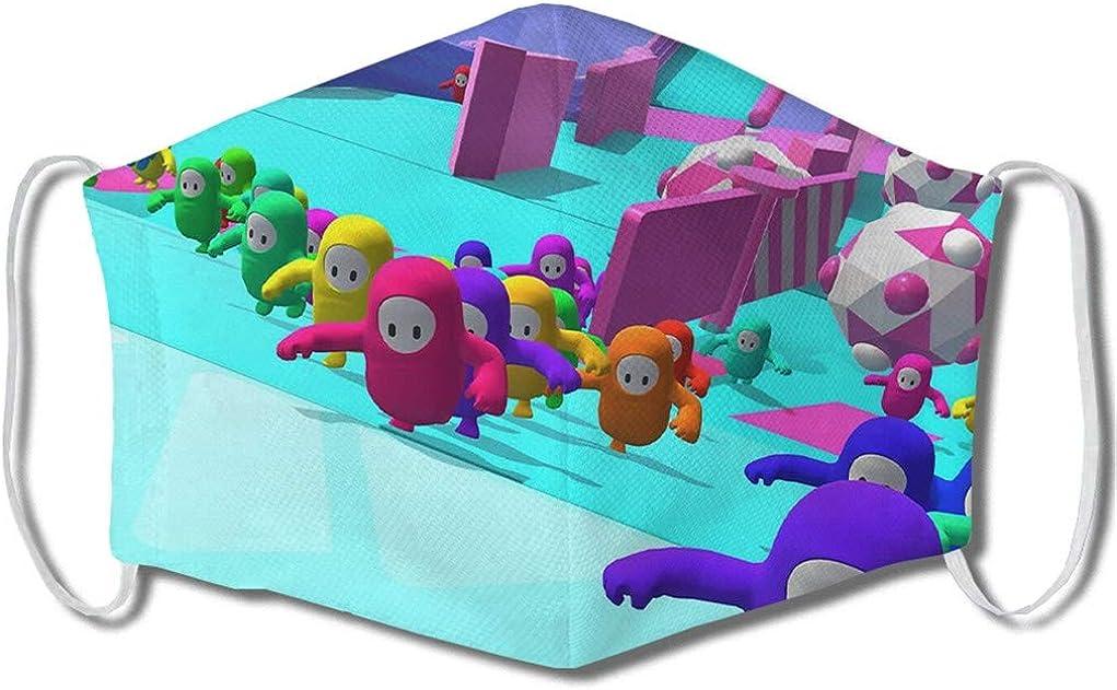 Fall Guys Mundschutz Waschbar f/ür Kinder Erwachsene 6 St/ück Cartoon 3D Lustig Halstuch Atmungsaktiv Staubdicht Wiederverwendbar
