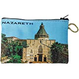 Icon Case Pouch Coin Purses Tapestry Prayer With Nazareth Annunciation Church 5.7