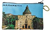 Icon Case Pouch Coin Purses Tapestry Prayer With Nazareth Annunciation Church 5.7''