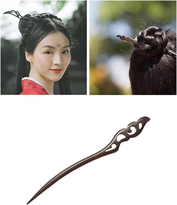 7/'/' Wood Sticks For Long Hair,Wooden Hair Sticks,Black Sandalwood Hair pin