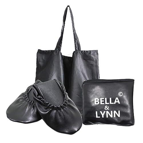 Amazon.com: Zapatos de ballet de viaje plegables con bolsa ...