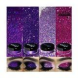 4pc GlitterWarehouse Holographic Loose Glitter Eye Shadow Powder Sparkling Grape Sassy Hot Mess Love Lust - 20g Jars